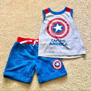 3/$25 Marvel Captain American Outfit Set